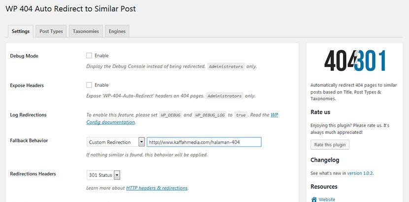 Setting-Plugin-WP-404-Redirection-Custom-Page