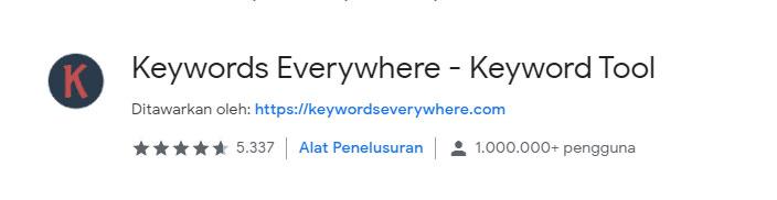 Extension Chrome Keyword Everywhere